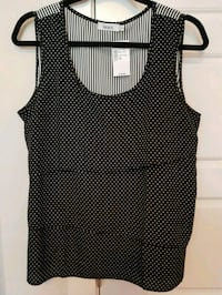 NEW black and white polka-dot tank top Calgary, T3N 0E4