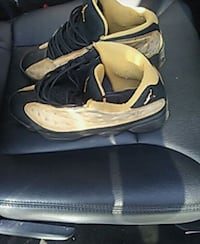 pair of black-and-white Nike basketball shoes Willingboro