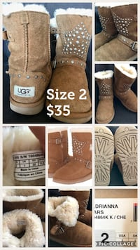 Beautiful Original UGG Boots Kids Girls Size 2 Alexandria, 22304