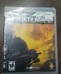 resistance 2 ps3 game case Maryland, 21085