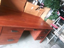 Beautiful desk very well-built and sturdy I don't know yet