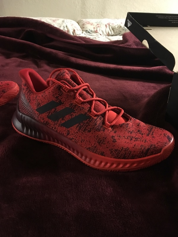 677cec536b20 Used Adidas Shoes -Hardens B E X Scarlet Red Size me s 11 for sale ...