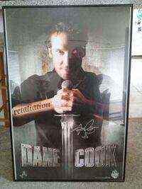 Autographed Dane Cook poster Groton, 06340