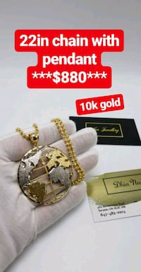 10K GOLD MOON CHAIN WITH PENDANT  Toronto, M1K 1N8