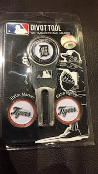 Divot Tool Detroit Tigers with ball markers New Tecumseth, L9R
