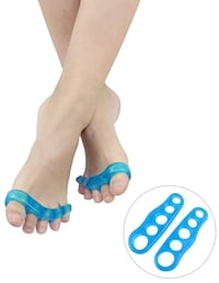 Domini Soft Gel Toe Separators (Toe Straightener and Yoga Toes) for Relaxing Toes and Fast Pain Relief from Hammertoe & Bunions for Men and Women,Yoga Practice & Running (Blue) brandnew picking up 纽约市, 11693