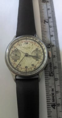 Authentic Swiss RECORD Chronograph Mens Watch