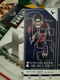 Texans vs. Browns with parking pass  Cypress, 77429