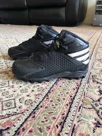 Black Addis Cleats for Grass (for Soccer, Football, and Rugby) size 12 US (11/30UK) Kids