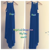 Blue high and low dress