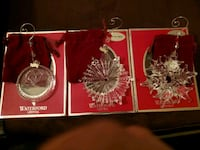 3 Waterford Crystal Ornaments Stockton