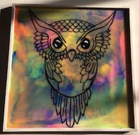 Hand Painted Colored Resin Owl| Resin Art| Colored Resin Mc Lean