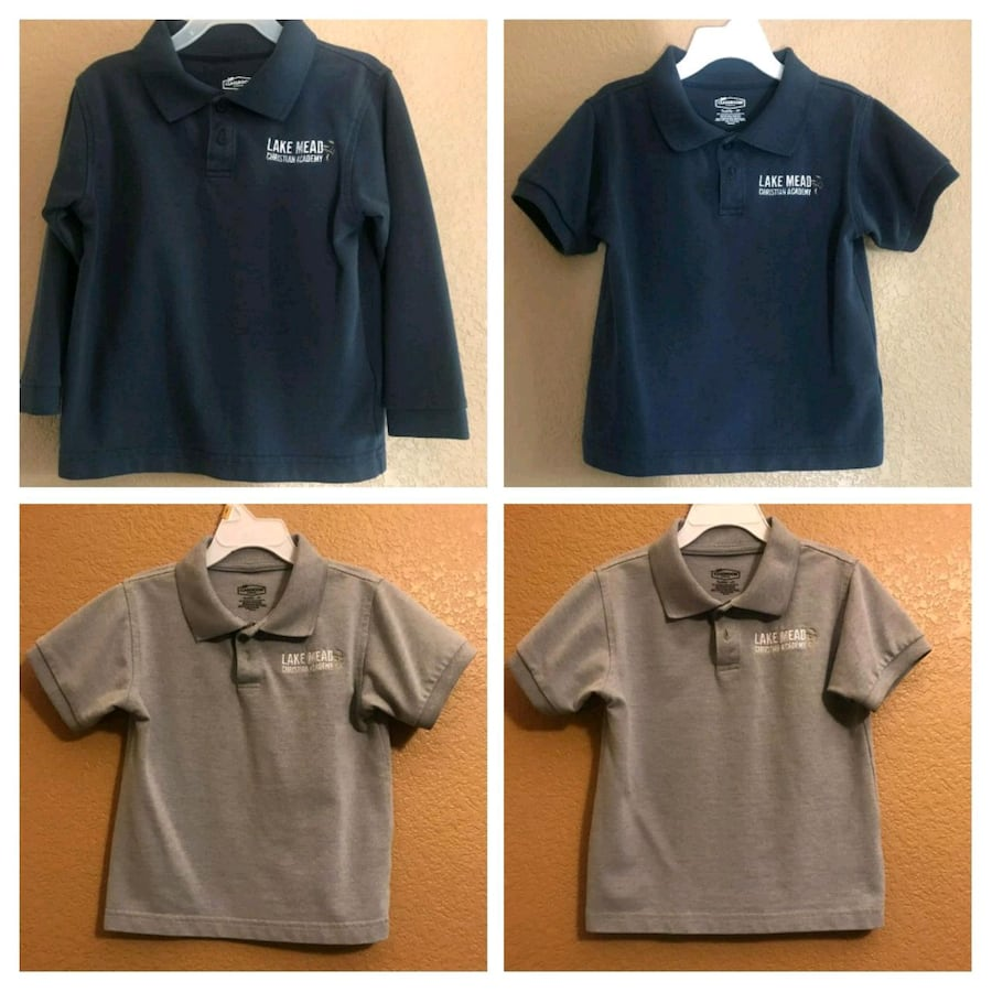 6 Shirts With Logo & 2 Pants 4T