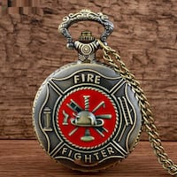 Love Firefighters, pocket watch, brand new, I have many more designs.  Calgary, T3A 4R8