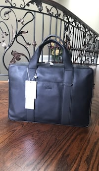 Lacoste leather laptop bag