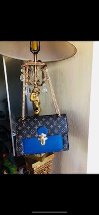 blue and brown leather crossbody bag Fremont, 94536