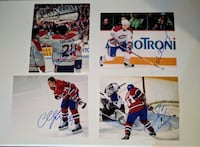Montreal Canadiens Signed 8x10 (4 Photos) Deux-Montagnes, J7R 6Y8