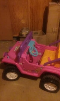 children's pink and brown ride-on toy Clinton, 48038