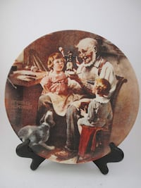 Vintage Norman Rockwell Plate, 1977 Richmond Hill