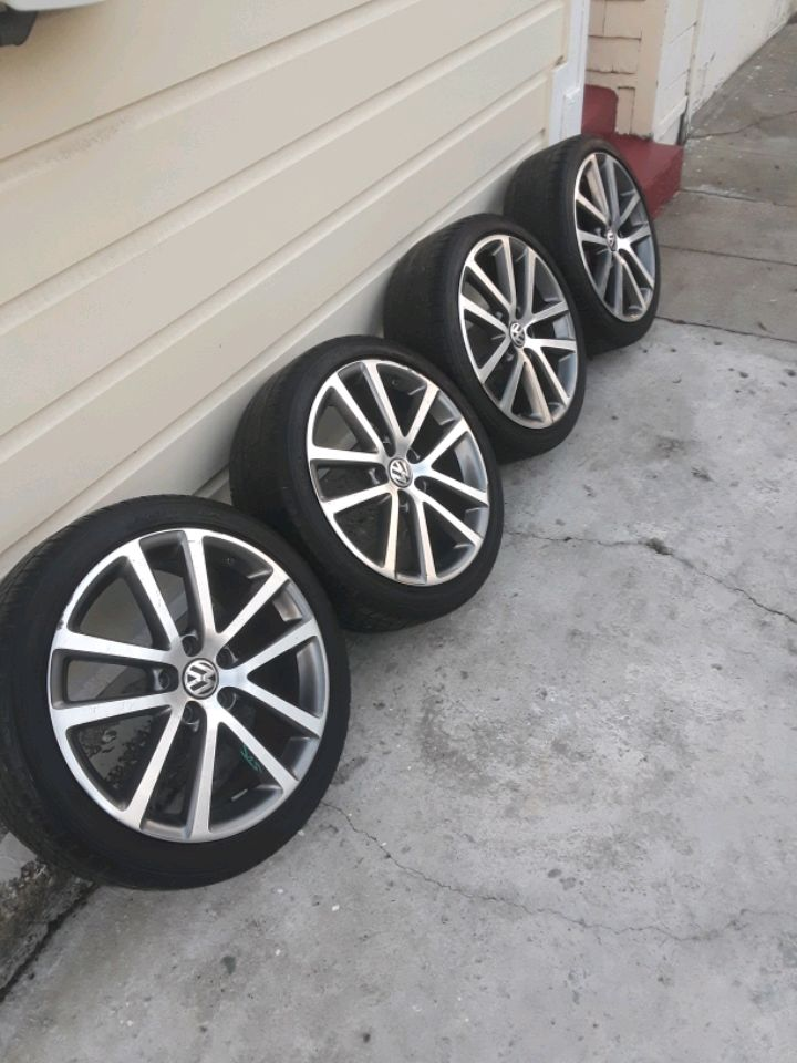Photo For sale my rims 18 5x112 for jetta