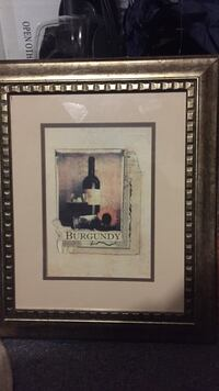 Framed Burgundy Wine print  Roswell, 30076