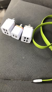 three white travel adapters Vaughan, L6A 0B1
