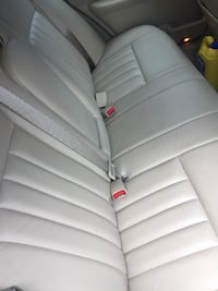 white leather car seat cover null