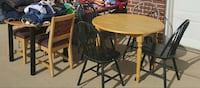 brown wooden round table & 4 chairs West Des Moines, 50266