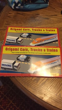 two Origami card, Trucks & Trains boxes Port Alberni, V9Y 4W1