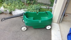 toddler's green and black wagon