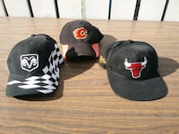 3 baseball caps 1 snap back $5.00 each all 3 for $