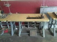 beige and grey sewing machine trundle