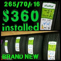 TOP DEAL ON TIRES ALL SIZE brand new 265/70/r16 with free install $360 WOW FREE FREE INTALLED with purchase  Best deal around town here at H-town car stereo Houston, 77076