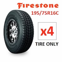 NEW 4 FIRESTONE WINTER TIRES   195/75R16C WINTERSTONE CV Mississauga, L4Y 2A6