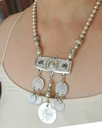 Coin necklace, silver plated Toronto