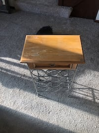 Wine rack stand with a drawer