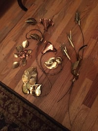 Vintage brass and copper wall decor