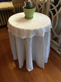 Wooden table with tablecloth Medford, 02155