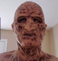 Used Freddy Krueger Part 2 Silicone Mask By Darkride Vaughan, L4H