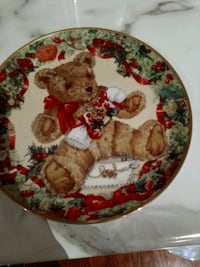 Teddy's First Christmas collectors plate.