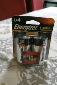 Energizer max +powerseal D4 battery  32 km