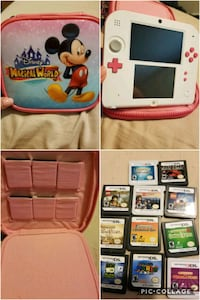 white Nintendo 3DS with game cartridges Columbus, 43231