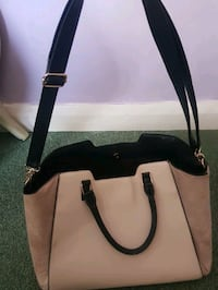 women's white and black leather tote bag Greater London, EN1 1JH