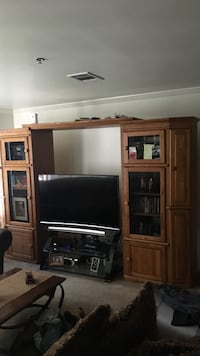 Only the Oak entertainment center.  Westminster, 80021