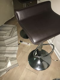 black leather padded bar seat Hinesville
