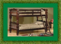 Wooden bunked frame twin free delivery  Temple Hills