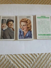 1935 Stars of screen and stage card set