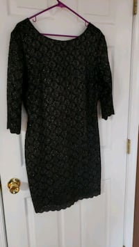 Little black and silver lace dress size 14 Fairfield, 17320
