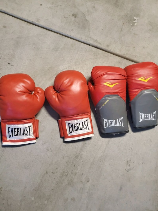 Punching bag with 2 pairs of gloves  ece415a7-d32f-41ea-919a-588409eba9aa