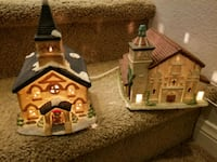 Vintage ceramic Christmas churches with lights  Las Vegas, 89149